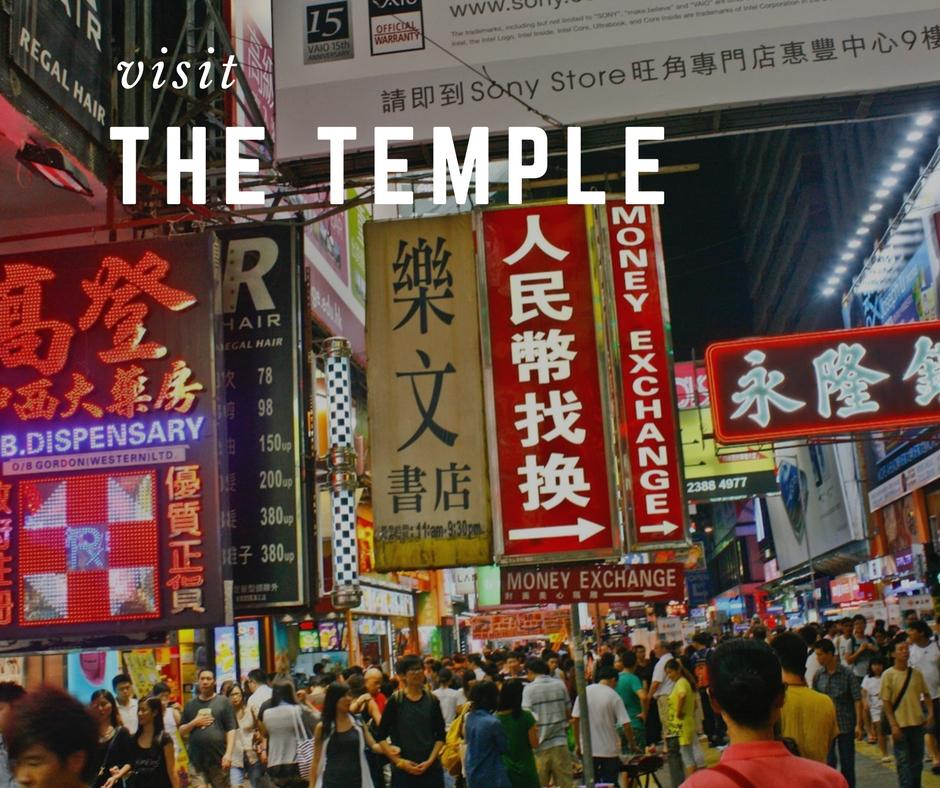 Chợ đêm ở phố Temple